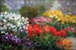 "Garden Spectacular - 24"" x 36 - Oil on Canvas - Scott Wallis"