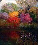 "Quiet Reflections - 30"" x 24"" - Scott Wallis"
