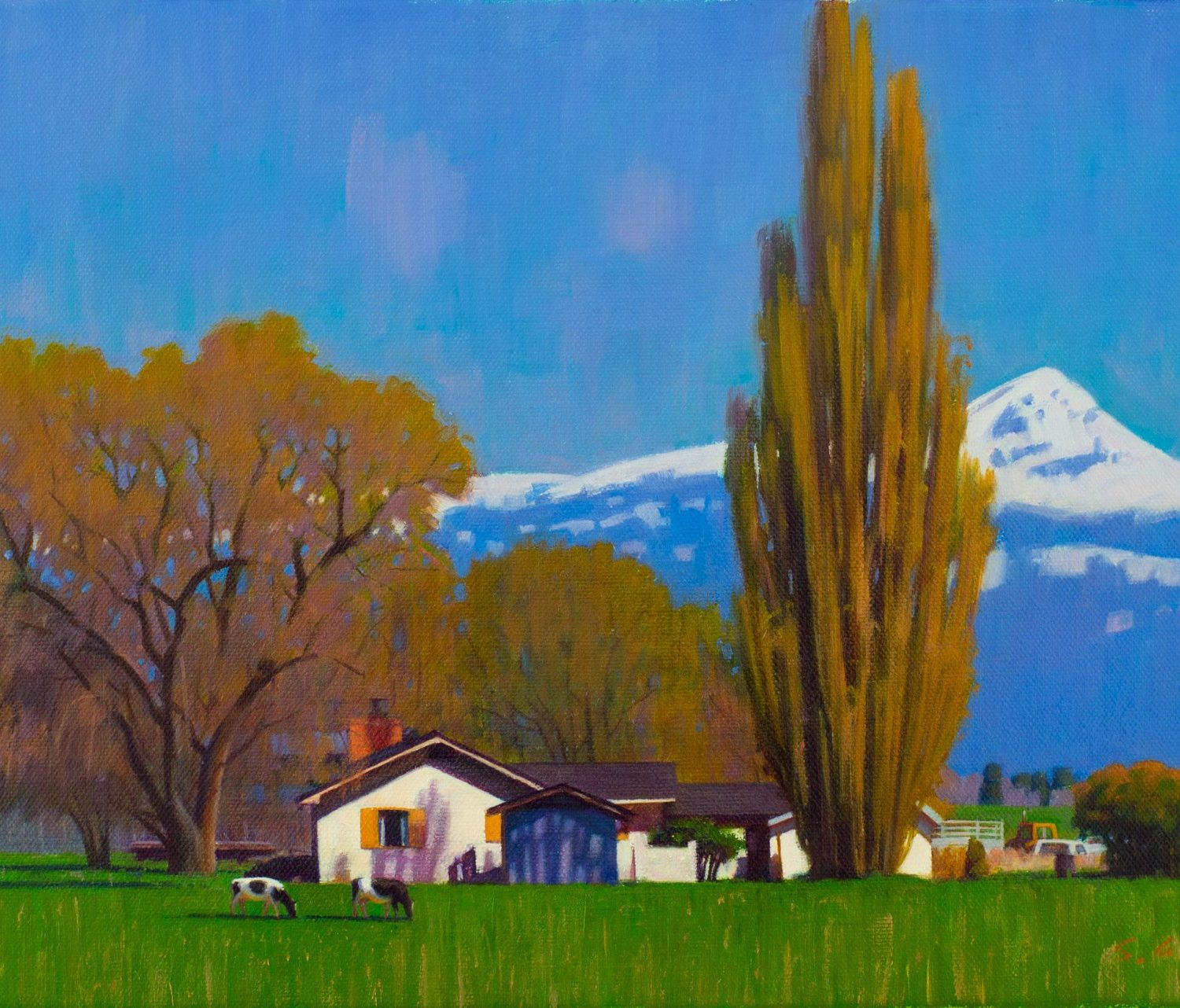 "Farm House Northern California - 12"" x 18"" - Oil on Canvas - Steele Xiang"