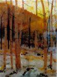 """First Snow - 11"""" x 15"""" - Glass - Ann Cavanaugh"""