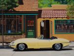 "Sitting Pretty - 15"" x 5"" - Oil on Canvas - Ken Eberts"