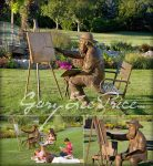 Monet Lifesize, 2006 - 25/40 - Bronze - Gary Lee Price