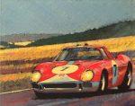 """Ferrari 12 hrs. Reims - 8"""" x 10"""" - Oil on Canvas - Barry Rowe"""