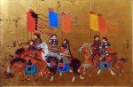 """Flag Term - 24"""" x 36"""" - Acrylic on Panel - Mou-Sien Tseng"""