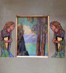 """Sunset Lake Tahoe - 11"""" x 14"""" - Acrylic - Jack Cassinetto"""