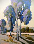 """Eucalyptus near Petaluna - 16"""" x 20"""" - Acrylic - Jack Cassinetto"""
