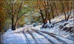 "February Afternoon, Sonora - 12"" x 20"" - Oil on Canvas - Barbara Conley"