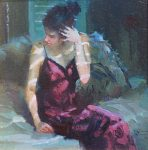 "Nightwatch - 12"" x 12"" - Oil on Canvas - Nancy Crookston"