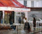 """Drizzle and Grays - 16"""" x 20"""" - Oil on Canvas - Philippe Gandiol"""