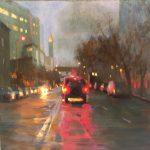 """Towards Home #2 - 19.5"""" x 19.5"""" - Oil on Canvas - Tae Park"""