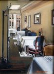 "Parisien Dining - 10"" x 12"" - Oil on Canvas - Thalia Stratton"