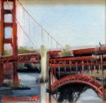 "Golden Gate V (#1) - 8"" x 8"" - Oil on Canvas - Thalia Stratton"