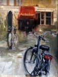 "Cafe Belle Epoque - 10"" x 12"" - Oil on Canvas - Thalia Stratton"