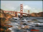 "Golden Gate Afternoon II - 12"" x 16"" - Oil on Canvas - Thalia Stratton"
