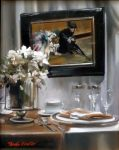 "Wedgewood Table Setting - 20"" x 16"" - Oil on Canvas - Thalia Stratton"
