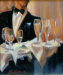 "Champagne Anyone II - 14"" x 11"" - Oil on Canvas - Thalia Stratton"