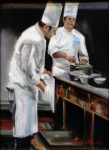 "Chef at Greystone II - 14"" x 11"" - Oil on Canvas - Thalia Stratton"