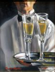 "Champagne Afternoon II - 16"" x 12"" - Oil on Canvas - Thalia Stratton"