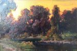 "Sunset in the Woods - 12"" x 16"" - Oil on Canvas - Ovanes Berberian"