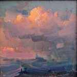 """Stormy Day - 8"""" x 8"""" - Oil on Canvas - Ovanes Berberian"""