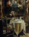 "Elegant Dining - 14"" x 11"" - Oil on Canvas - Thalia Stratton"