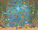 """Monterey Otter Friends - 11"""" x 14"""" - Oil - Merry Kohn Buvia"""