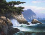 """Point Lobos Charm - 10"""" x 8"""" - Oil on Canvas - Dean Linsky"""