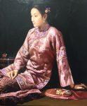 "Moment of Zen - 24"" x 20"" - Oil on Canvas - Zhun Ming"