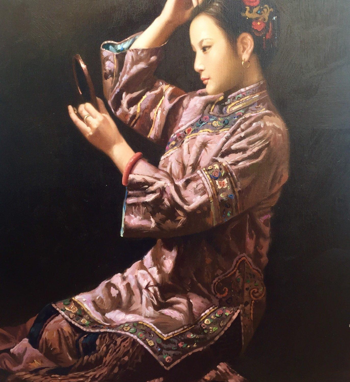 "Finishing Touches - 24"" x 18"" - Oil on Canvas - Zhun Ming"