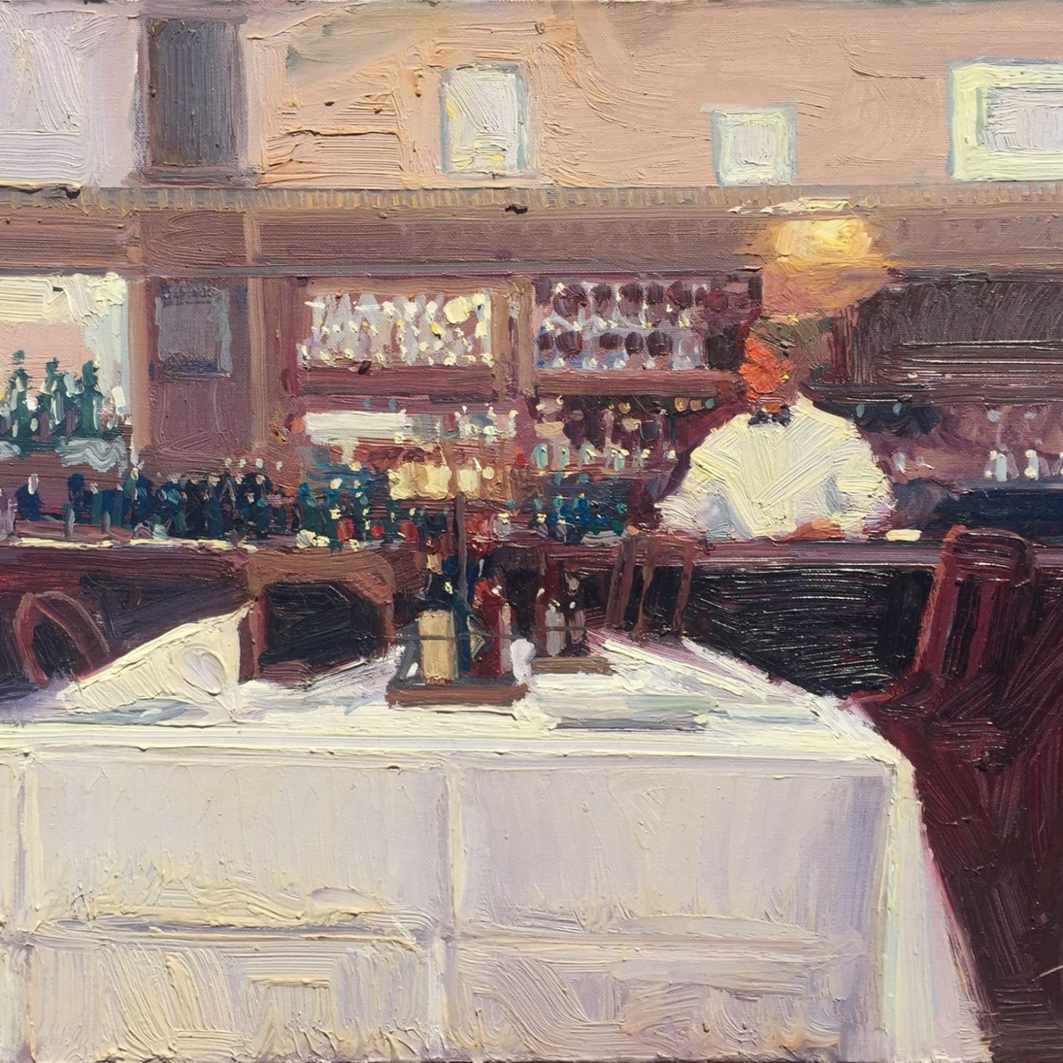 """Tabasco - Elite Cafe, S.F."" - 16"" x 20"" - Oil - Ken Auster"