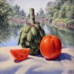 "Still Life At Clear Lake - 10"" x 11"" - Oil - Jared Sines"