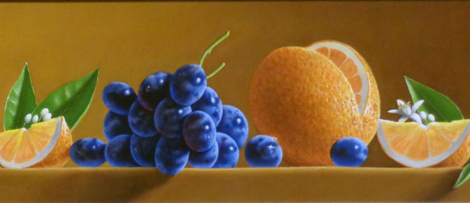 "Oranges & Black Grapes - 6"" x 16"" - Oil - Jared Sines"