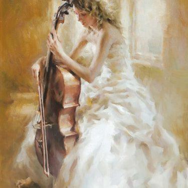 """Musique de Ballet - 20"""" x 16"""" - Oil - Stephen Pan"""