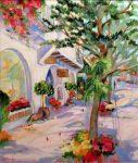 """Garden Shop - 28"""" x 22"""" - Oil - Dorothy Spangler"""