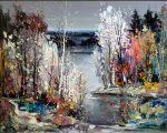 "Autumn Evening - 24"" x 30"" - Oil - Chan Tinyan"