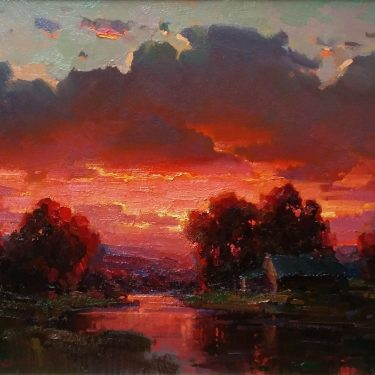"Sunset Glow - 22"" x 28"" - Oil - Ovanes Berberian"