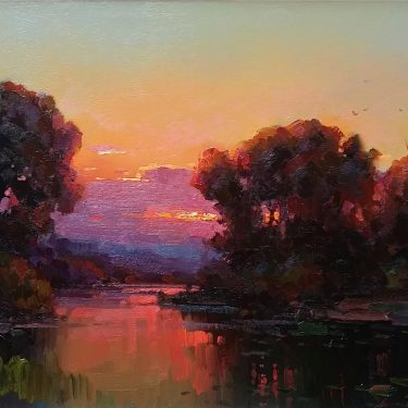 "October Sunset - 22"" x 28"" - Oil - Ovanes Berberian"