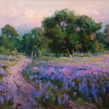 "Field of Lupins - 29"" x 39"" - Oil - Ovanes Berberian"