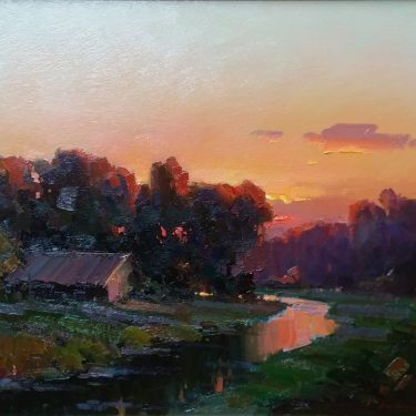 "Evening by the Creek - 24"" x 30"" - Oil - Ovanes Berberian"