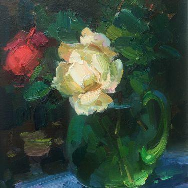 "Roses - 16"" x 12"" - Oil - Ovanes Berberian"