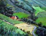 "Carmel Valley Vineyard - 11"" x 14"" - Oil on Canvas - Linda Petrie Bunch"