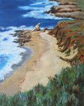 "Middle Beach - 14"" x 11"" - Oil on Canvas - Linda Petrie Bunch"