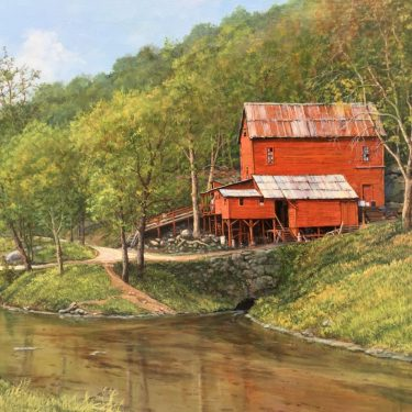 "Hodgson Water Mill - 24"" x 36"" - Oil - Barbara Conley"