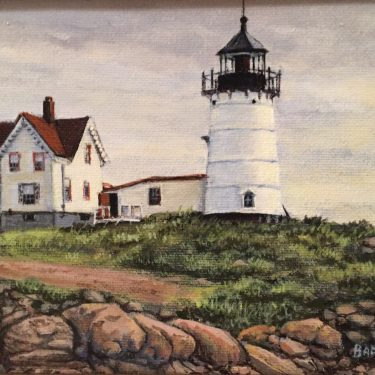 "Overcast Day-Nubble Light - 5"" x 7"" - Oil - Barbara Conley"