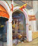 """French Cafe - 12"""" x 16"""" - Oil - Tatyana Fogarty"""