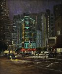 "North Beach Revisited - 48"" x 40"" - Oil on Canvas- Philippe Gandiol"