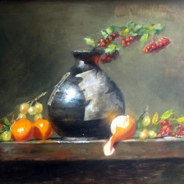 "Oranges and Red - 11"" x 16"" - Oil - Kathryn Miller"