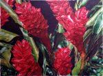Red Ginger Flowers - Watercolor - Charlotte Bixby Yep