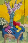 "Gladioli with Pomegranates - 36"" x 24"" - Angus Wilson"