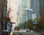 "Orange Street Car - 14"" x 14"" - Nancy Crookston"